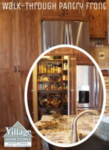 Hidden pantry in kitchen