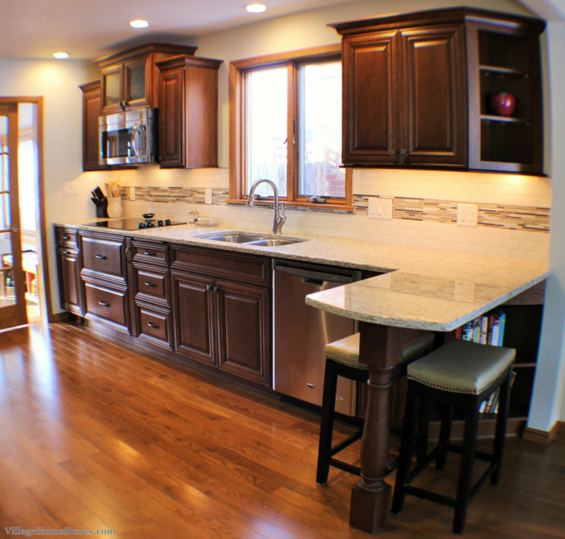 Kitchen Layout Peninsula: Moline Remodel- Great Galley!