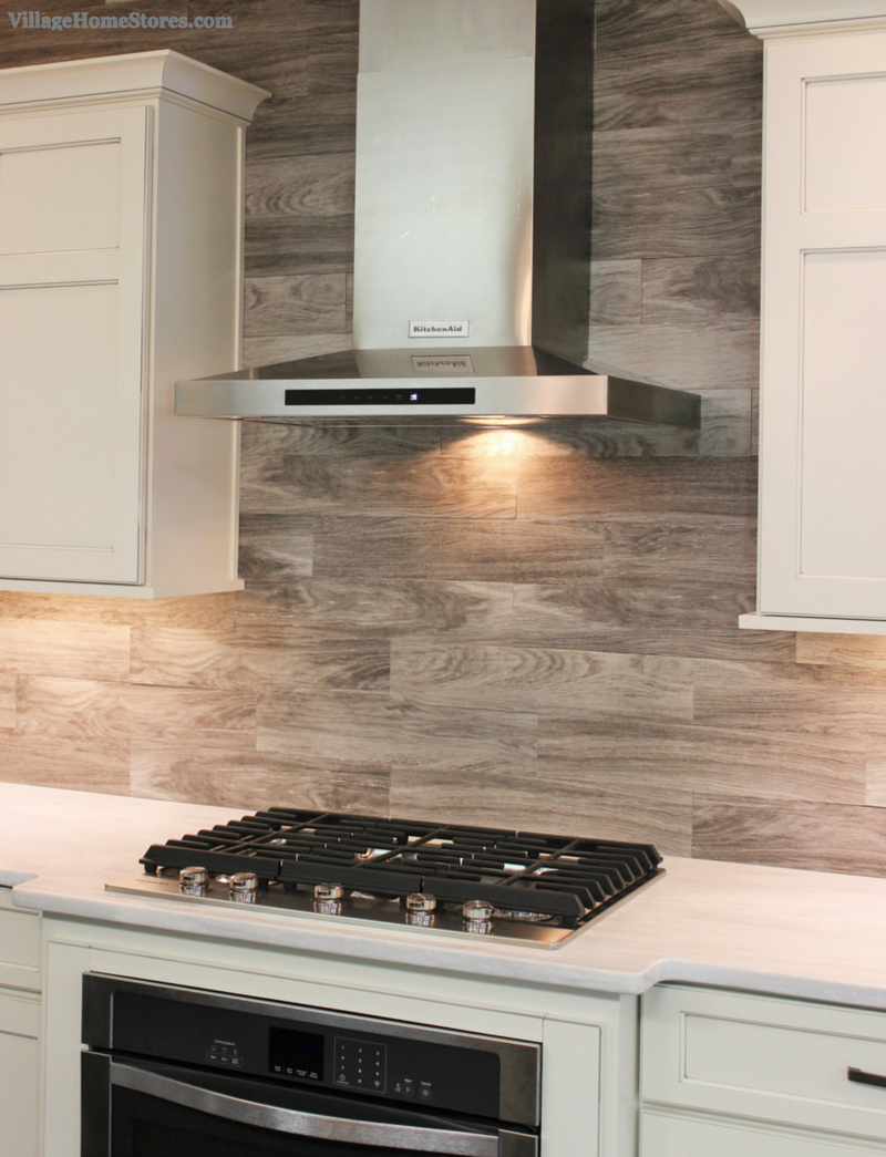kitchen tile walls weathered finish island 3301