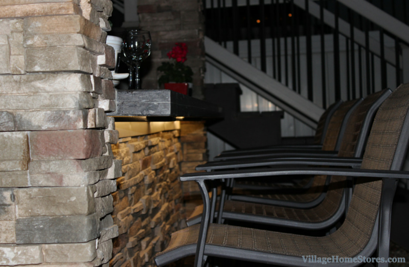Diode LED lighting in an outdoor poolside bar. | VillageHomeStores.com