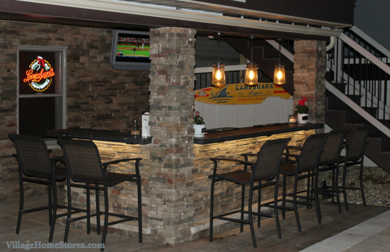 diode led lighting in an outdoor poolside bar villagehomestorescom - Lighting Bars For Kitchens