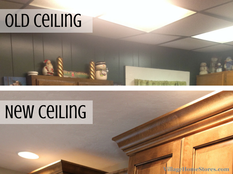 Kitchen with drop ceiling