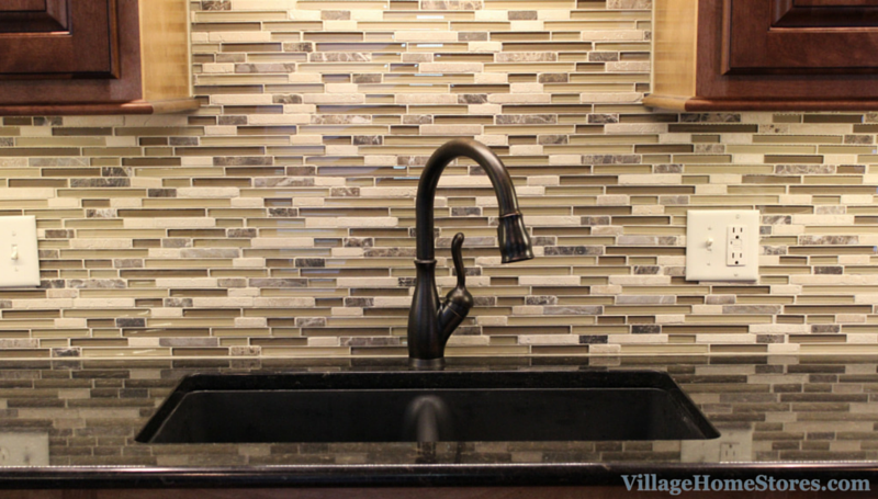 Mosaic tile backsplash. | VillageHomeStores.com