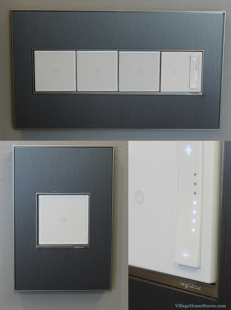 Adorne switches in a remodeled Master Bathroom. | VillageHomeStores.com