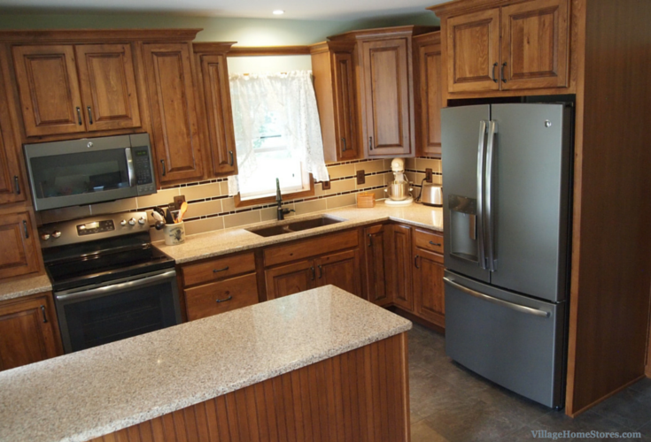 Rustic Beech kitchen remodel in Galva, IL. | Village Home Stores