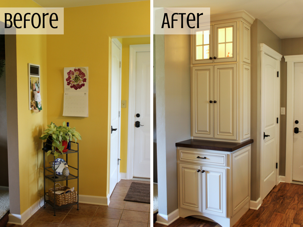hutch before and after remodel by Village Home Stores