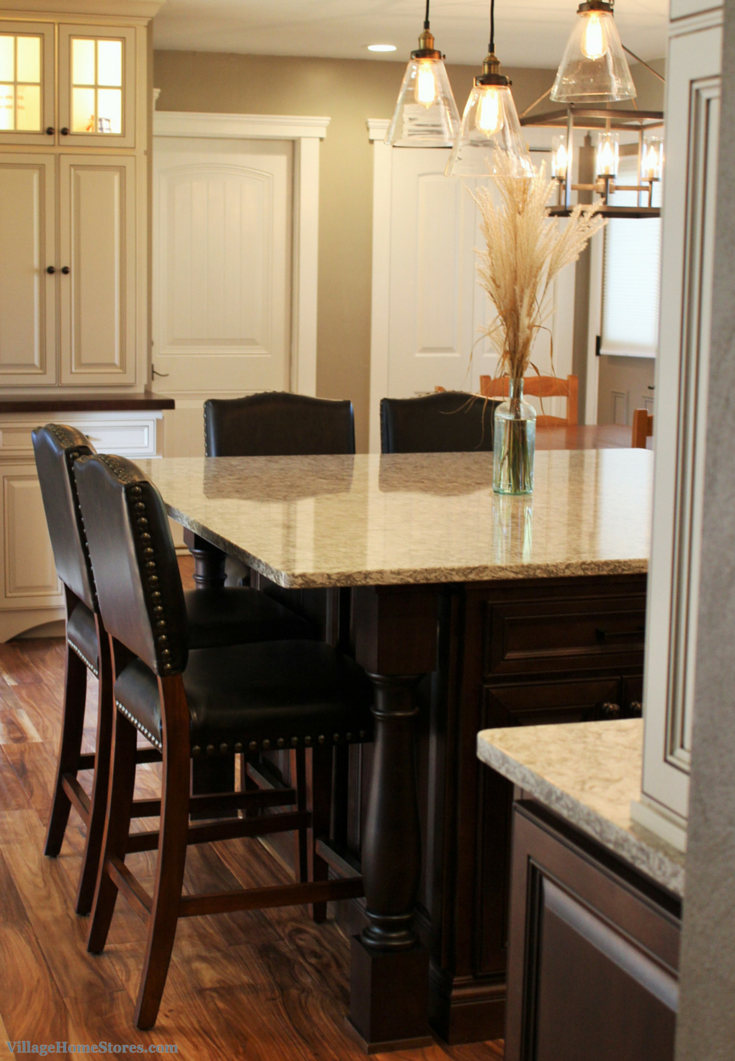 Kitchen remodel with island by Village Home Stores