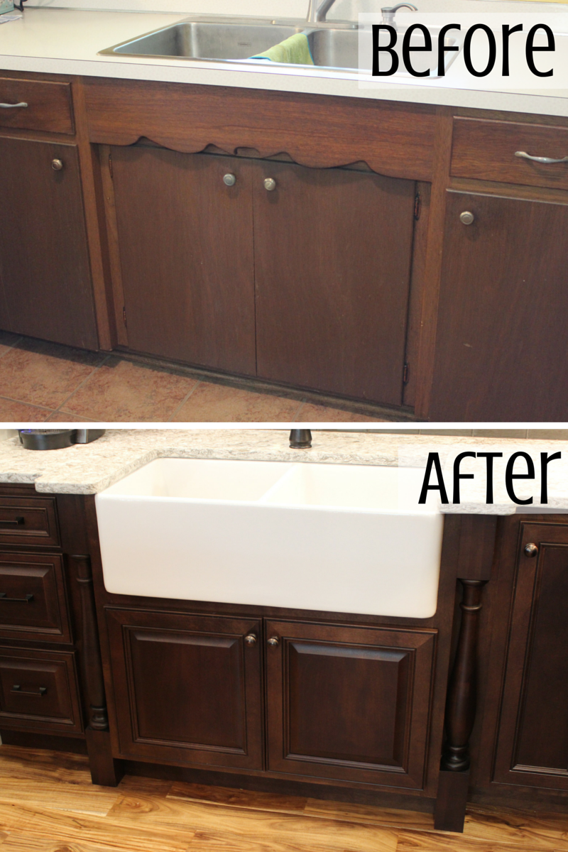 sink remodel before and after by Village Home Stores