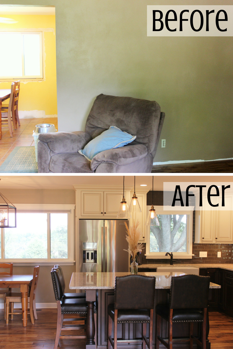 Before and after remodel iin Taylor Ridge by Village Home Stores