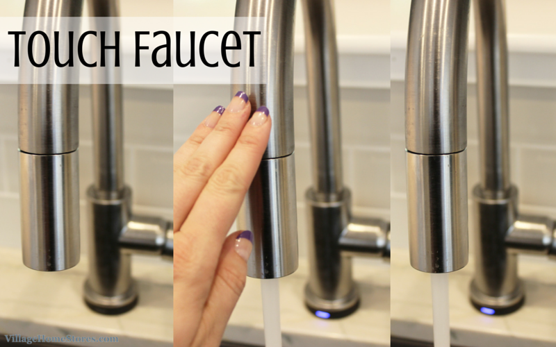 touch faucet in kitchen