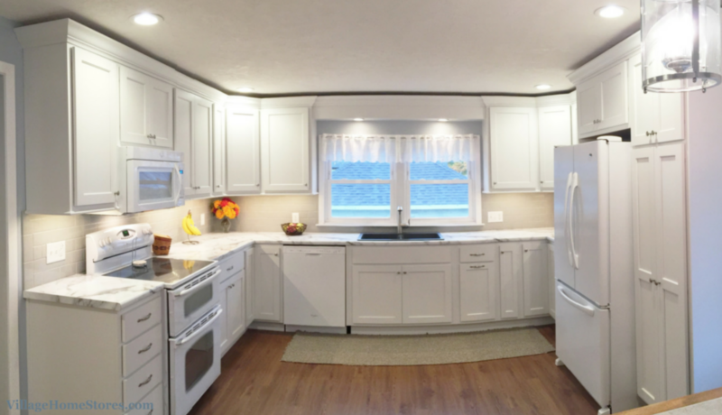 white painted kitchen | VillageHomeStores.com