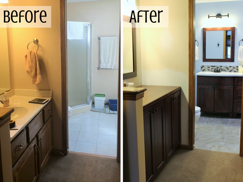 Bettendorf bathroom remodel master bath rejuvenated for Bathroom renovation before and after