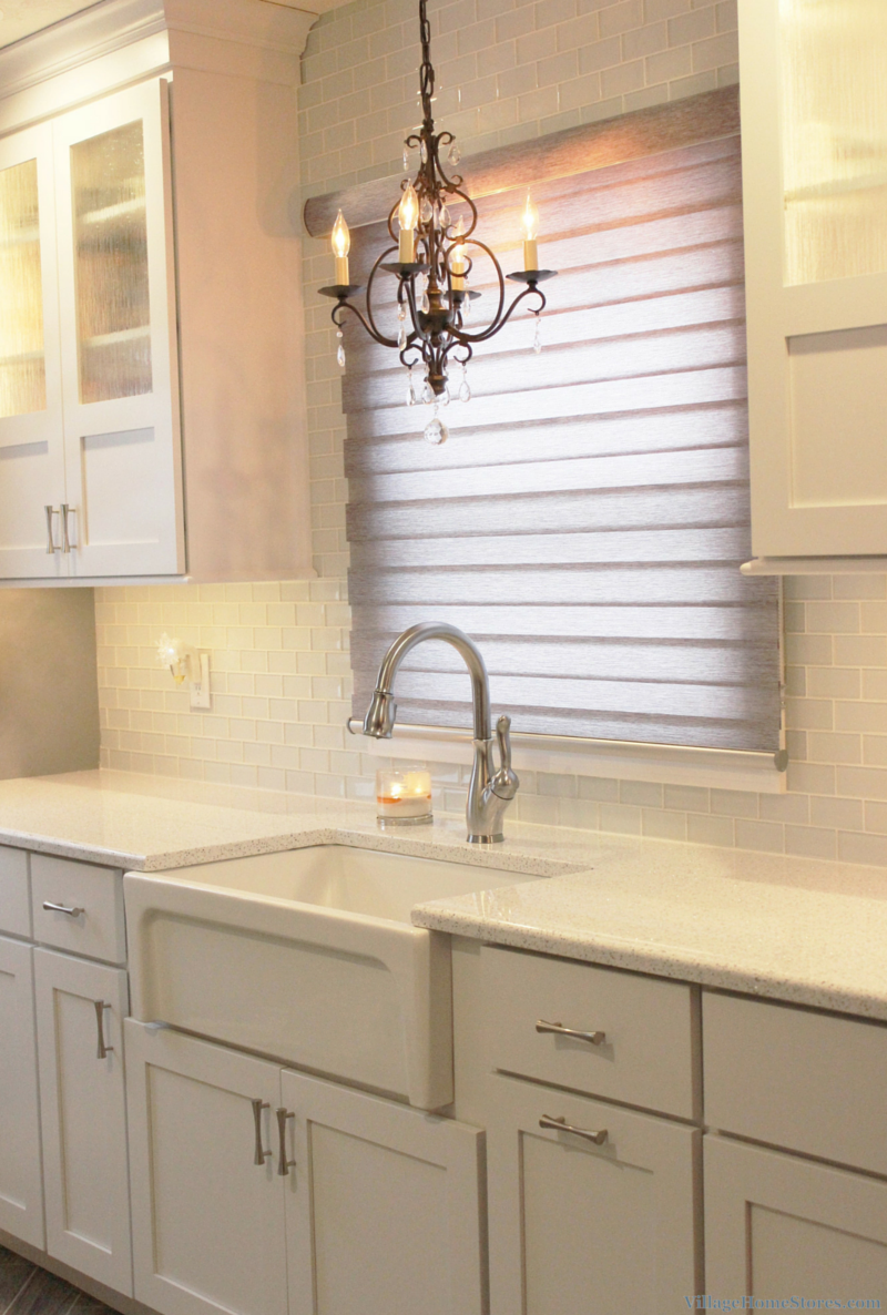 Farm sink in an East Moline, IL kitchen remodeled from start to finish by Village Home Stores. | VillageHomeStores.com
