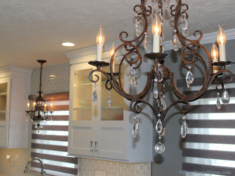 chandelier in kitchen. | VillageHomeStores.com