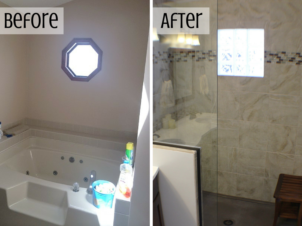 Master Bathroom Remodels Before And After bettendorf bathroom remodel: master bath rejuvenated - village