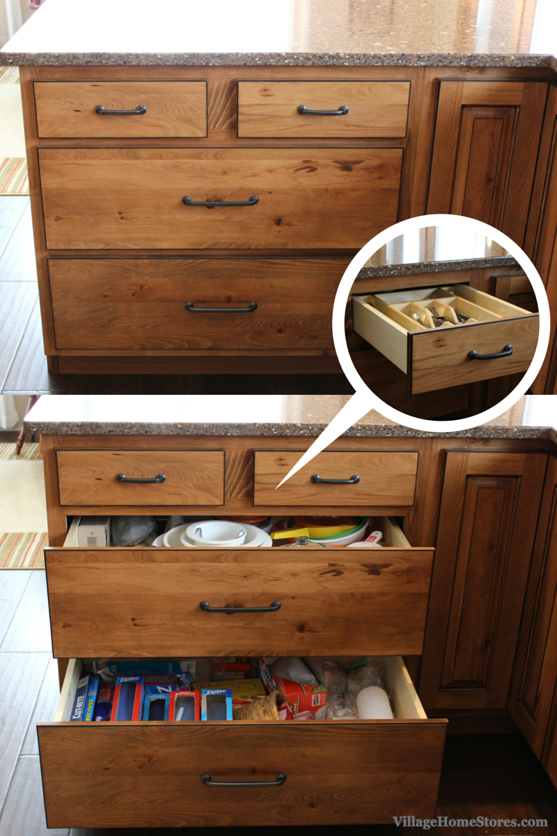two top drawers in cabinet. | VillageHomeStores,com