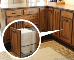 pull out trash cabinet. | VillageHomeStores.com