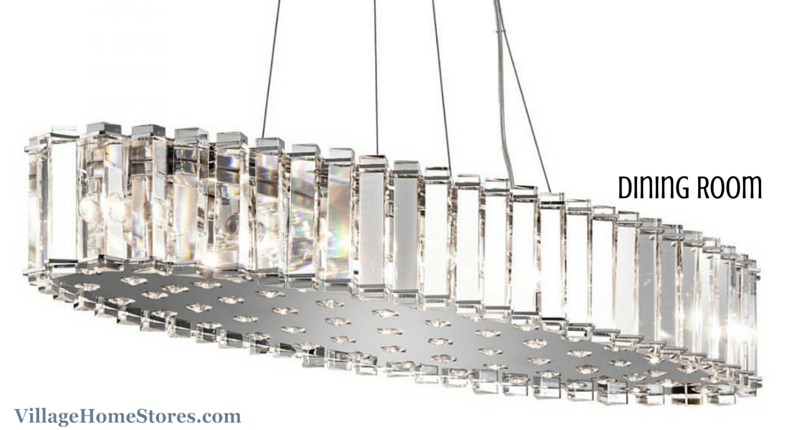 Kichler 12 light oval chandelier in a Moline, IL home. | VillageHomeStores.com
