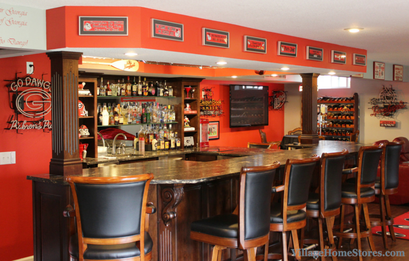 Georgia Bulldogs themed bar in Geneseo, IL | VillageHomeStores.com