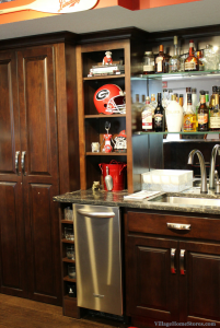 Georgia Bulldogs themed bar in Geneseo, IL. | VillageHomeStores.com