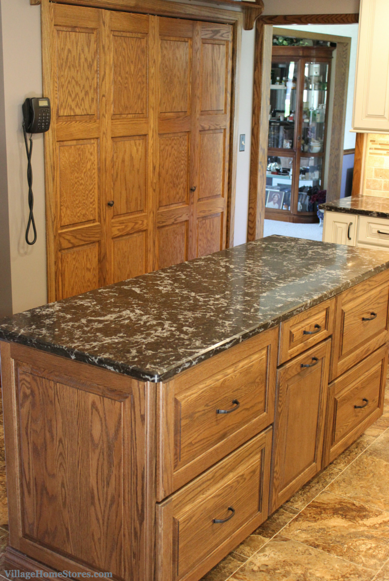Oak island kitchen cabinets. | VillageHomeStores.com