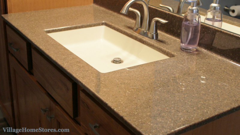 Onyx Collection bathroom vanity top. | VillageHomeStores.com