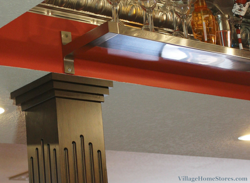 Fluted columns in a home bar. | VillageHomeStores.com
