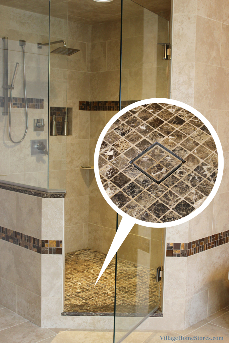 Custom tiled drain. | VillageHomeStores.com