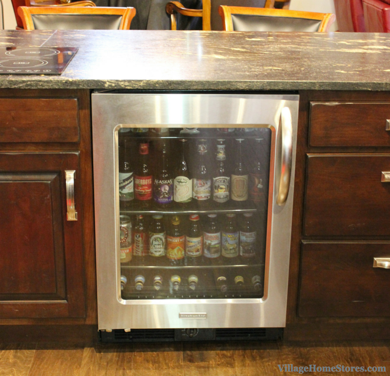KitchenAid beverage cooler in bar. | VillageHomeStores.com
