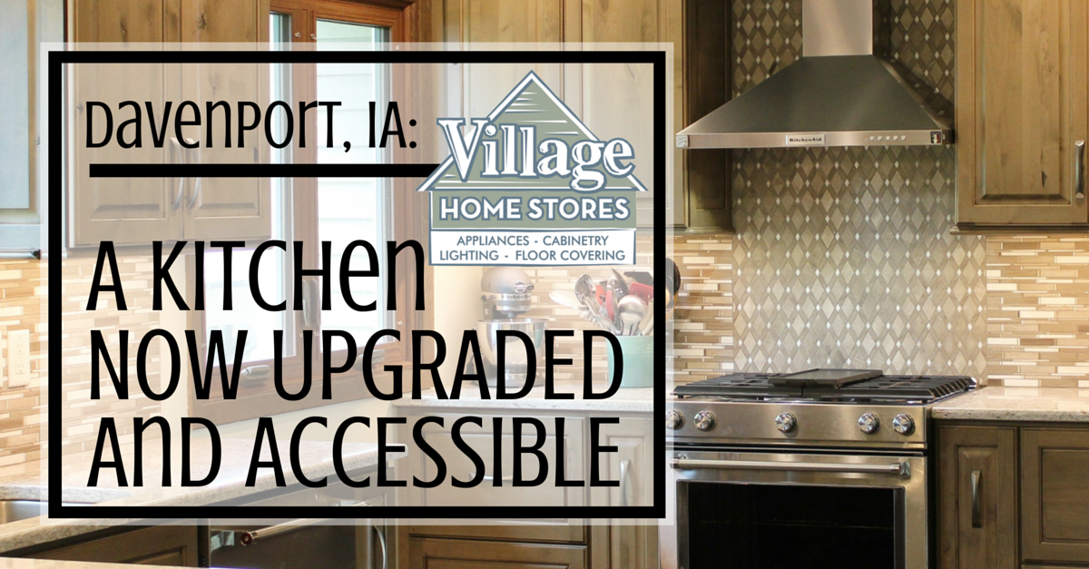 Davenport ia kitchen remodel by village home stores for Bathroom remodel quad cities