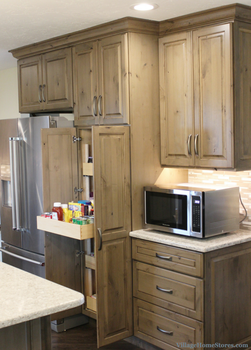 grey kitchen cabinets. | VillageHomeStores.com