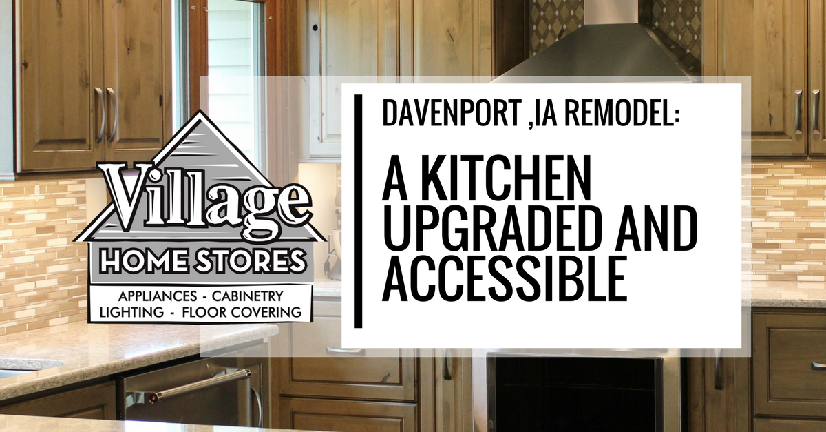 Davenport, IA Kitchen Remodel by Village Home Stores