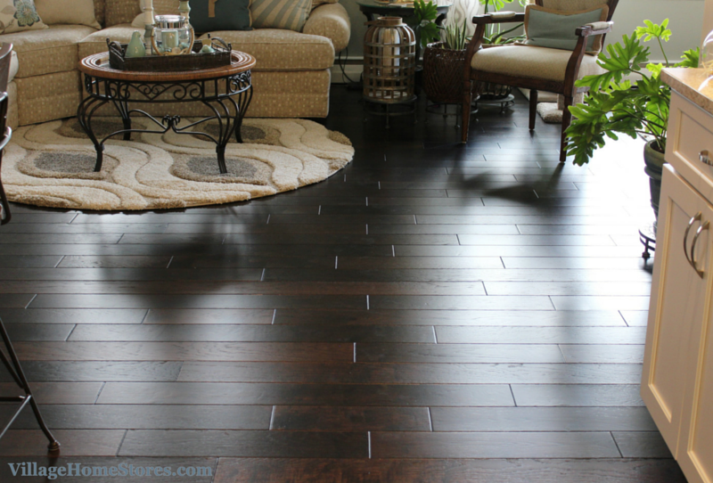 Hallmark hardwood flooring in Hacienda Hickory Smoke. | VillageHomeStores.com