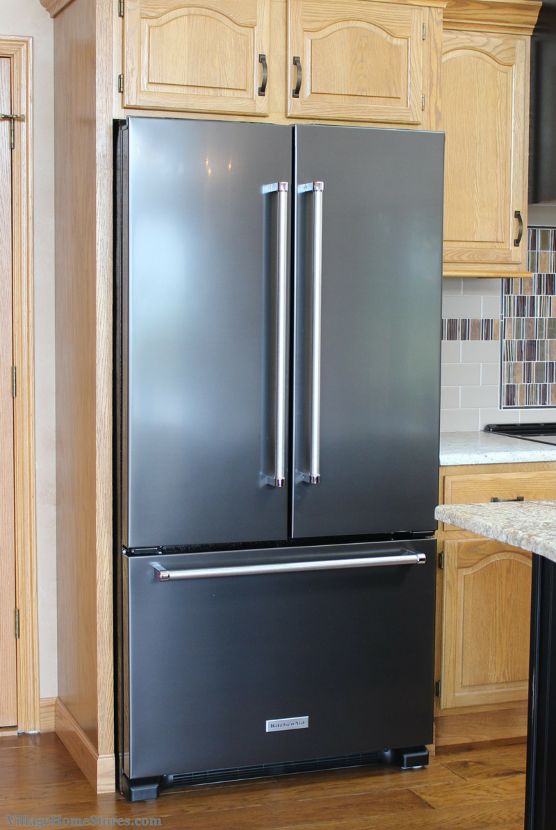kitchenaid refrigerator black stainless. black stainless steel from kitchenaid. | villagehomestores.com kitchenaid refrigerator
