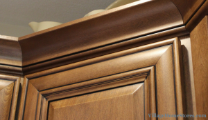 Crown molding on kitchen cabinets. | VillageHomeStores.com