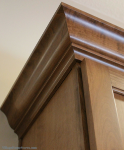 crown molding on cabinet