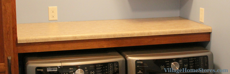 Filler as apron under countertop in laundry room. | VillageHomeStores.com