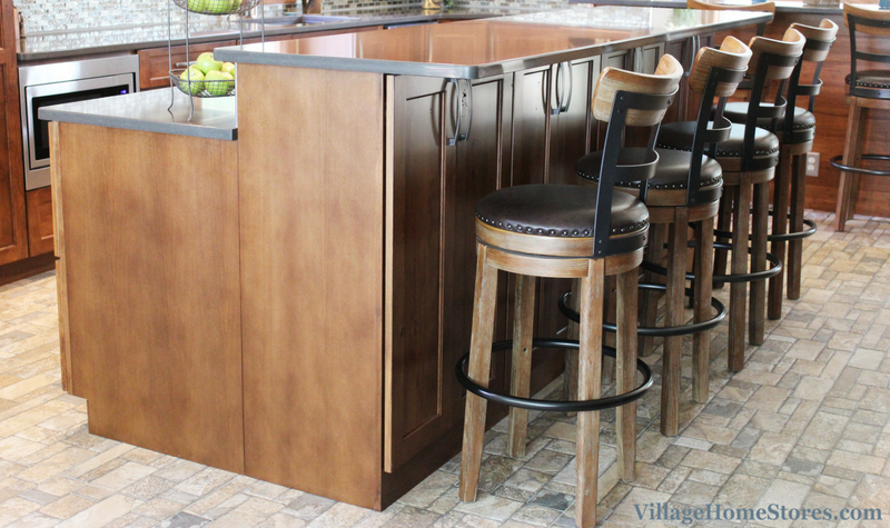 Two height island in kitchen. | VillageHomeStores.com