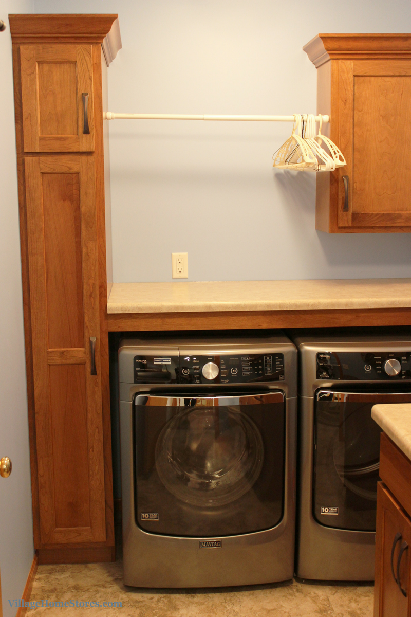 Linen cabinet in laundry room. | VillageHomeStores.com