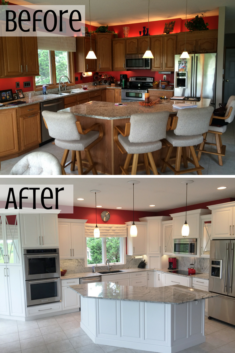 Kitchen before and after. | VillageHomeStores.com