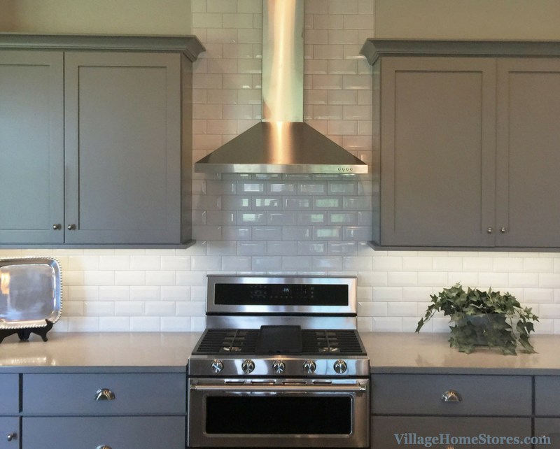 Beveled subway tile in a Bettendorf, IA kitchen. | VillageHomeStores.com