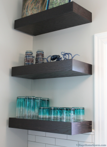 Floating shelves in kitchen. | VillageHomeStores.com