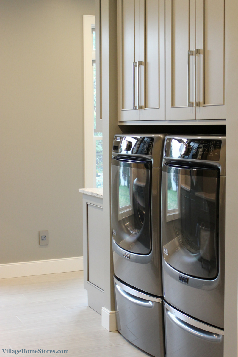 laundry pair in Metallic Slate finish by Maytag. | VillageHomeStores.com
