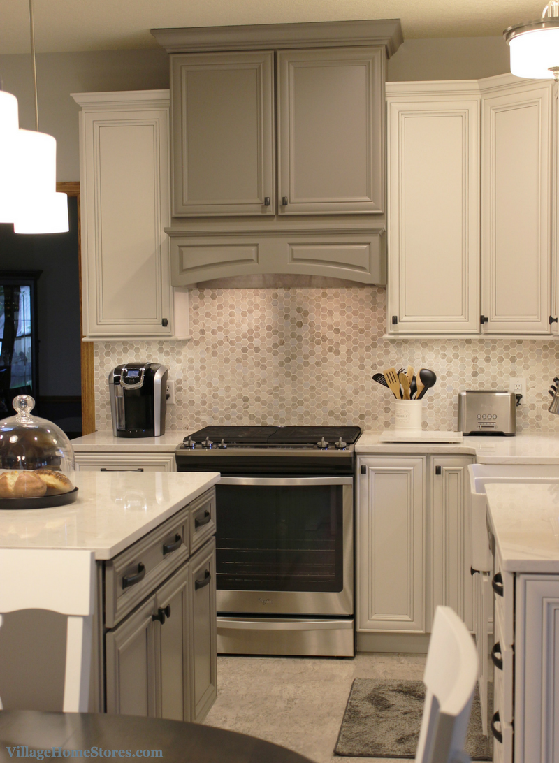 Gray and white kitchen remodel in Bettendorf, IA | VillageHomeStores.com