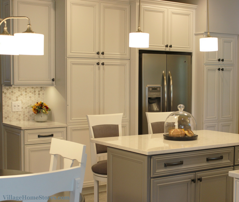 Tall storage cabinetry in kitchen. | VillageHomeStores.com