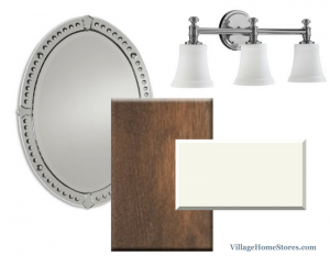 Gray stained cabinet bathroom ideas. | VillageHomeStores.com