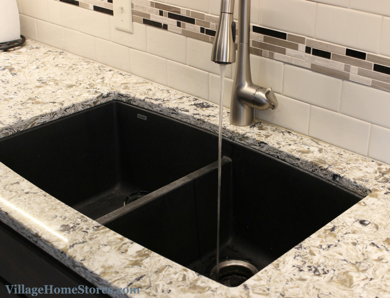 Blanco sink in black finish. | VillageHomeStores.com