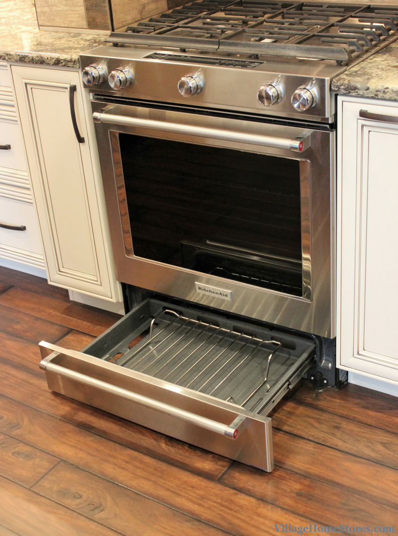 KitchenAid range with convection oven and baking drawer. | VillageHomeStores.com