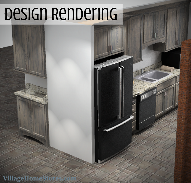 Kitchen design rendering. | VillageHomeStores.com