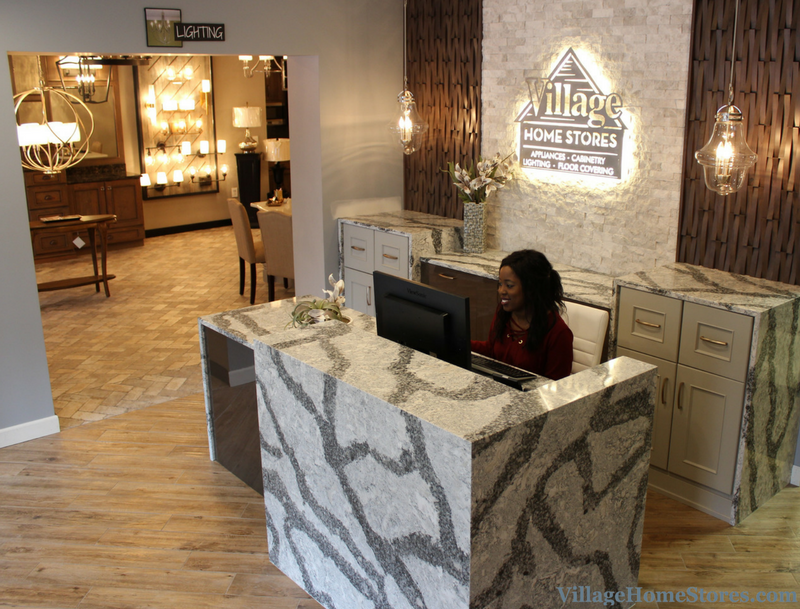 New front desk area at Village Home Stores. | VillageHomeStores.com